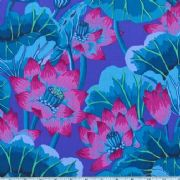 Kaffe Fassett Lake Blossoms - Blue - Per Quarter Metre